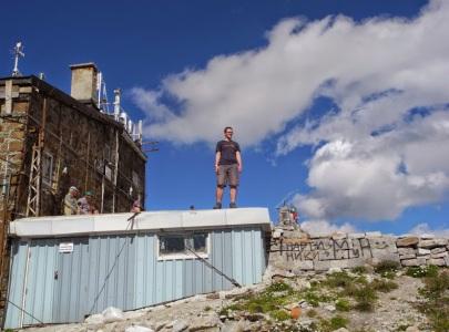 Do výběru se dostane jen to, co si chci pamatovat - třeba David na nejvyšší hoře Balkánu.