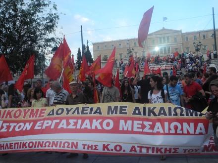 Demoška mladých komunistů